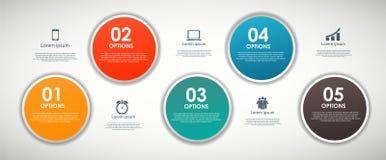 INFOGRAPHICS de vectorillustratie van ontwerpelementen Stock Fotografie