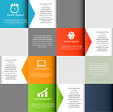 INFOGRAPHICS de vectorillustratie van ontwerpelementen stock illustratie