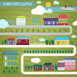 Infographics de ville illustration stock