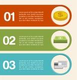 Infographics dei soldi illustrazione vettoriale