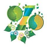 Infographics dekorował z liśćmi drzewa Fotografia Royalty Free