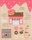 Infographics del buñuelo ilustración del vector