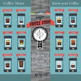 Infographics del caffè Fotografia Stock Libera da Diritti