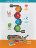 Infographics del camino Imagen de archivo libre de regalías