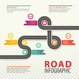 Infographics del camino o de la carretera, mapa del tráfico de coche Foto de archivo libre de regalías