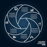 Infographics del cerchio di vettore Modello per il diagramma Fotografia Stock Libera da Diritti