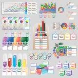 Infographics del color con diversos elementos individuales Imágenes de archivo libres de regalías