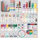 Infographics del color con diversos elementos individuales Fotos de archivo libres de regalías