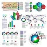Infographics del color con diversos elementos individuales Imagen de archivo libre de regalías