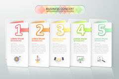 Infographics del concepto del negocio Ilustración del vector Foto de archivo libre de regalías