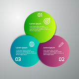 Infographics del ejemplo del vector 3 círculos coloreados libre illustration