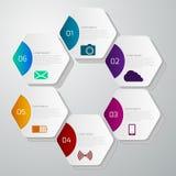 Infographics del ejemplo del vector con hexágonos Libre Illustration