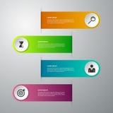 Infographics del ejemplo del vector cuatro opciones stock de ilustración