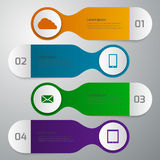 Infographics del ejemplo del vector 4 opciones Stock de ilustración