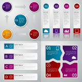 Infographics del ejemplo del vector Un sistema de cuatro plantillas libre illustration