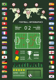 Infographics del fútbol Imágenes de archivo libres de regalías