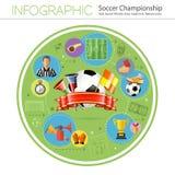 Infographics del fútbol Imagen de archivo libre de regalías