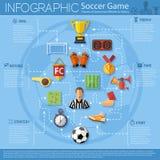 Infographics del fútbol Foto de archivo libre de regalías