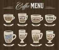 Infographics del menu del caffè di vettore Immagini Stock Libere da Diritti