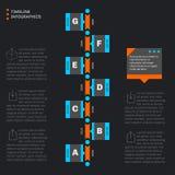 Infographics del modello di cronologia Progresso verticale illustrazione vettoriale