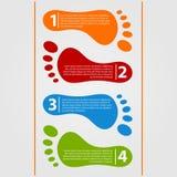 Infographics del modello di progettazione moderna Fotografie Stock