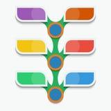 Infographics del modello per le presentazioni di affari Adatto a celebrazioni ed a feste di dimostrazione Fotografia Stock