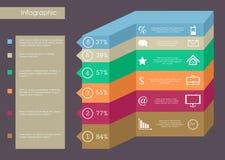 Infographics del negocio Fotos de archivo libres de regalías