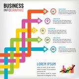 Infographics del negocio para la plantilla de la presentación, ejemplo del vector ilustración del vector