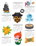 Infographics del pirata libre illustration