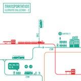Infographics del transporte libre illustration