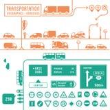 Infographics del transporte - roadsigns libre illustration