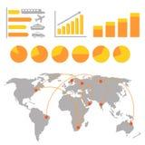 Infographics del trasporto Fotografia Stock Libera da Diritti