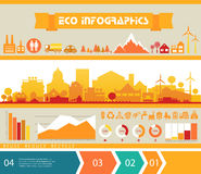 Infographics del vector Ciudad y pueblo Foto de archivo