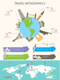 Infographics del World Travel Fotografía de archivo