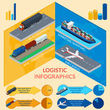 Infographics of delivery. Vector illustration. Infographics of delivery Royalty Free Stock Image