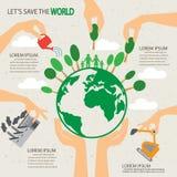 Infographics dell'albero di Eco Fotografie Stock