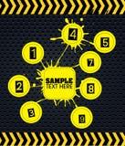 Infographics dell'etichetta Fotografia Stock