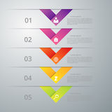 Infographics dell'illustrazione di vettore cinque opzioni Fotografie Stock Libere da Diritti