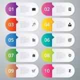 Infographics dell'illustrazione di vettore dieci opzioni Fotografia Stock Libera da Diritti