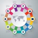 Infographics dell'illustrazione di vettore dieci opzioni Immagini Stock
