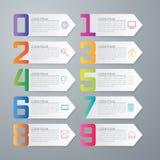 Infographics dell'illustrazione di vettore dieci opzioni Fotografia Stock