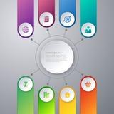 Infographics dell'illustrazione di vettore otto opzioni Fotografia Stock