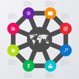 Infographics dell'illustrazione di vettore otto opzioni Immagini Stock