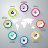 Infographics dell'illustrazione di vettore otto opzioni Immagine Stock Libera da Diritti