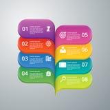 Infographics dell'illustrazione di vettore otto opzioni Fotografia Stock Libera da Diritti