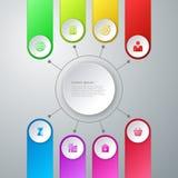 Infographics dell'illustrazione di vettore otto opzioni Fotografie Stock