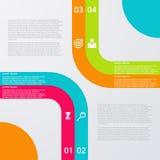 Infographics dell'illustrazione di vettore quattro opzioni illustrazione di stock