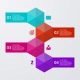 Infographics dell'illustrazione di vettore quattro opzioni Immagine Stock Libera da Diritti