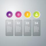 Infographics dell'illustrazione di vettore quattro opzioni Fotografia Stock Libera da Diritti
