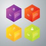 Infographics dell'illustrazione di vettore quattro opzioni Fotografie Stock Libere da Diritti